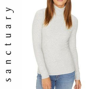 NWT Sanctuary Woman's turtleneck top grey sz XL